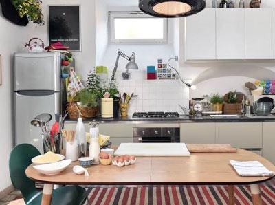 Un tappeto Swedy nella cucina delle ragazze